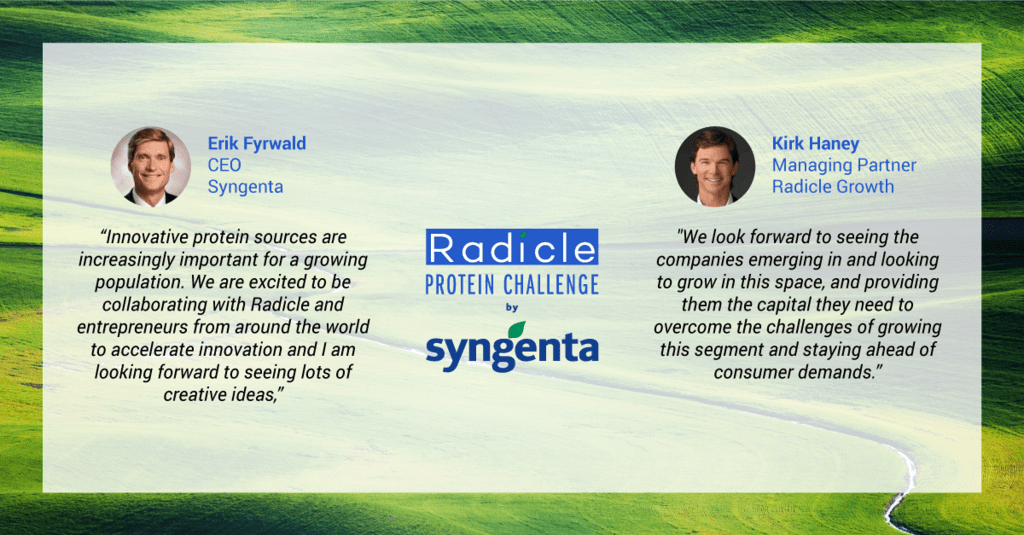 Radicle protein challenge by Syngenta